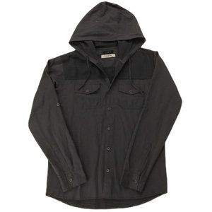 Overdrive Men's Hooded Button Down Shirt